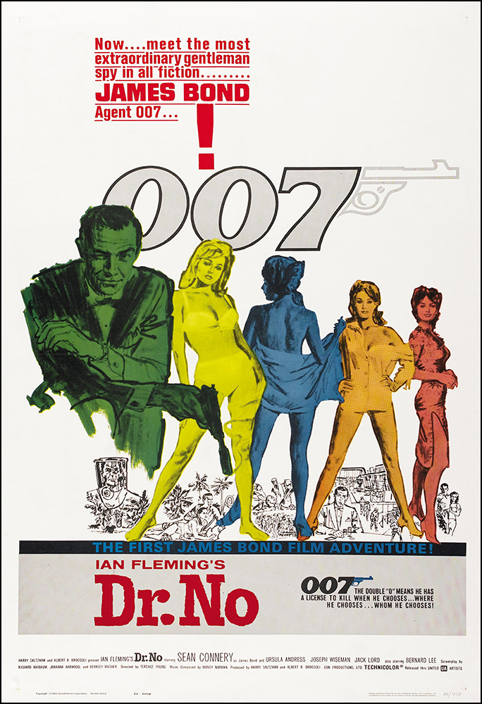 Dr. No Movie Poster Print James Bond 007 - 1962 - Action - 1 Sheet ...