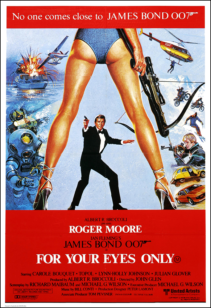 For Your Eyes Only Movie Poster Print - 1981 - Action - 1 Sheet ...