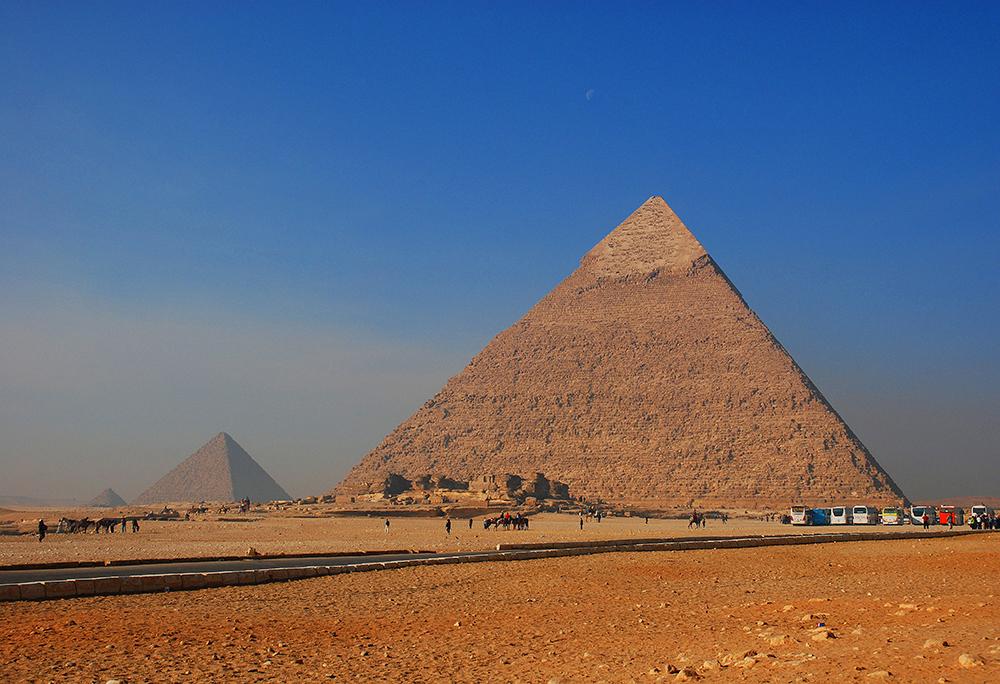 VINTAGE ART PRINT Egypt Pyramids LES PYRAMIDES Egyptian Travel Poster 23.5x18