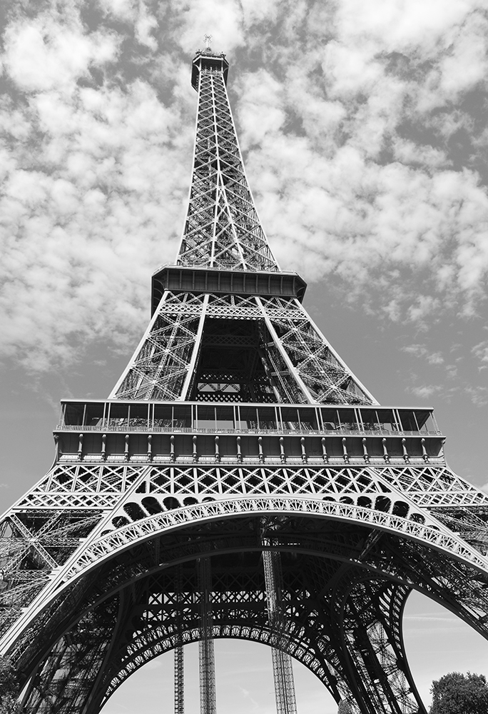 photograph relating to Printable Pictures of the Eiffel Tower referred to as Eiffel Tower Within BW - Popular Architecture Poster - Landmark